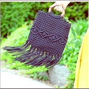 NEW Danielle Nicole Macrame Handbag